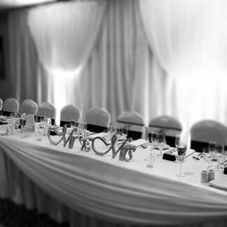 Reception Packages from $500 - set up and packed up