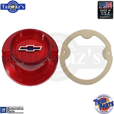 64 Impala Bel Air Tail Light Lamp Taillight Lens BLUEDOT Bowtie with Gasket USA ()