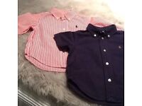 Two Ralph Lauren baby shirts