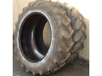 TRACTOR TYRES 13.6/36 (12/36) GOODYEAR SUPER TRACTION RADIALS GOOD TREAD £250 FOR BOTH TYRES