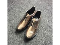 Shiny Size 6 Silver Shoes