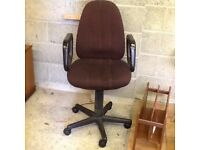 Solid swivel chair for office in good condition on wheels smoke free house