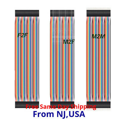 40pcs 2.54mm Dupont Wire Jump Jumper Cables For Arduino Raspberry Pi