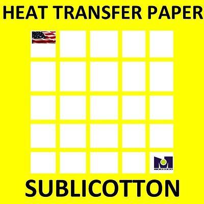Sublimation On Cotton T-shirts Light Heat Press Transfer Paper Yellow Grid 5 Sh