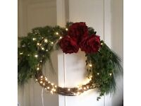 Light up Xmas wreath from next