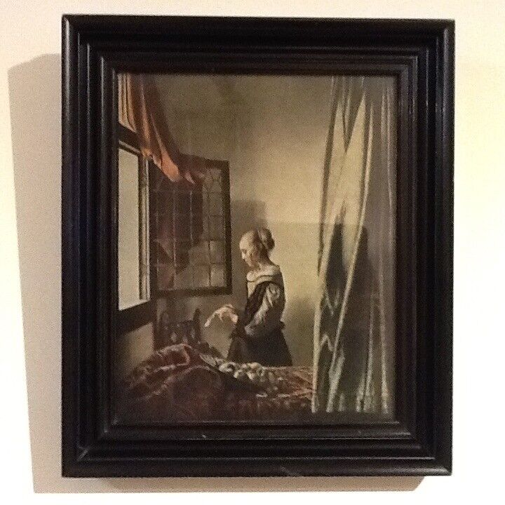 Print of Girl Reading Letter By An Open Widow by Johannes Vermeer