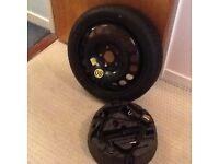 "16"" 5 stud space saver wheel and toolkit/jack for Vauxhall Meriva"