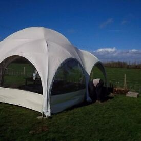 Canvas undercover dome for entertaining and excellent all weather garden space