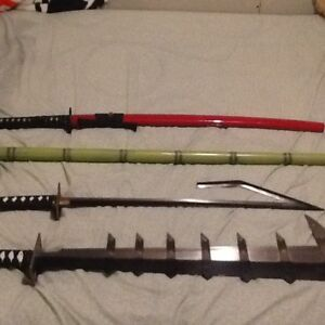 4 collectible swords and dagger