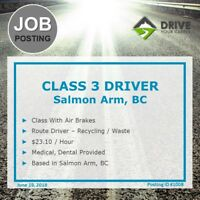▐ JOB POSTING #1008: Route Truck Driver▐ Salmon Arm