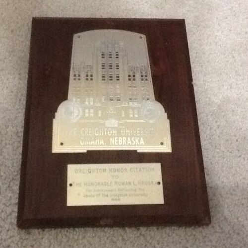 RARE Creighton University AWARD Senator Roman Hruska Omaha Nebraska Bluejays