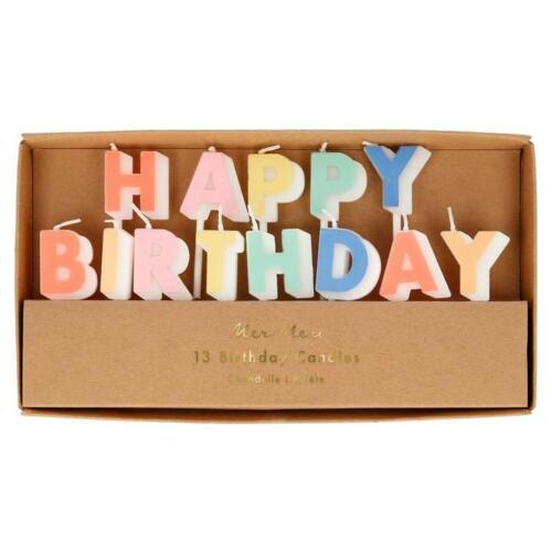 Meri Meri Happy Birthday Candle Set Decorations Birthday Topper Baking Party
