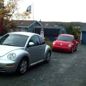 NEEDS GONE: FOR SALE: TWO 1999 VW BEETLES