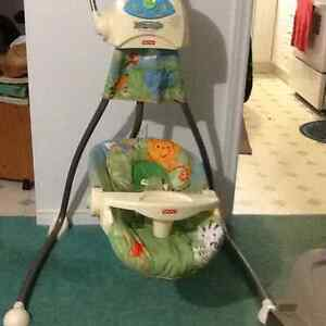 Fisher Price RainForest Swing Mobile with music etc.. $45 ONO