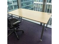 FREE SAME-DAY DELIVERY - 1600mm Wide Straight Office Desks