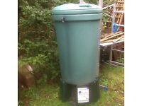 Harcostar 220L Waterbutt with attachments /unused.Buyer collects