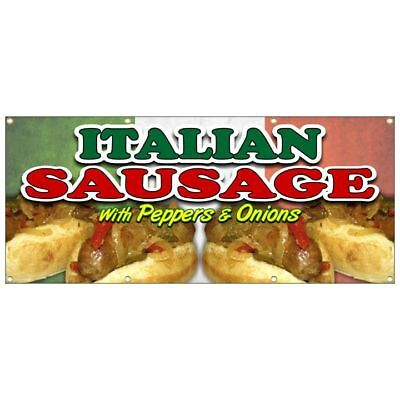 ITALIAN SAUSAGE SANDWICH BANNER hot dog tenders chicken lemonade french fries