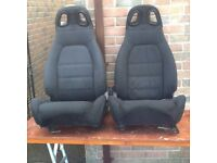 MX5 Eunos seats modified for harnesses