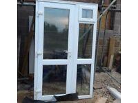 White Upvc door and side windows 1.3m (w) x 2.11m (h)