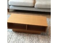 Low coffee table/tv stand. As new.