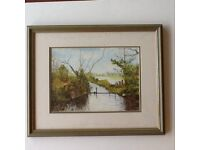 New Forest original watercolour,signed and framed.