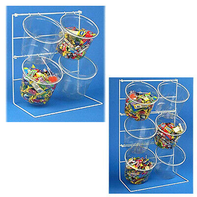 Retail Counter Top Clear Bucket Display With 4 Or 6 5.5 H Jars Wholesale