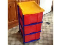 Plastic chest of drawers x 2