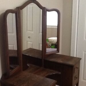 Antique vanity with bench for sale