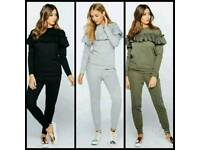 Ladies frilled tracksuit