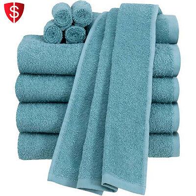 Bath Towel Set Bathroom Hand Towels Bathing Cotton Absorbent Washcloth 10 pcs