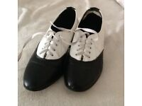 Ladies swing dance shoes,size 6 1/2 black and white.