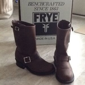 """FRYE Leather """"Engineer"""" Boots"""