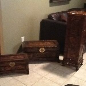 Antique 3 piece chest Set (2 chests, 1 Tower with door)