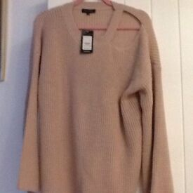 Dusky Pink Brand New Jumper with Tags