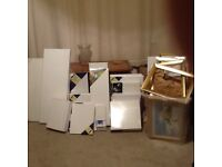 40+ various size new canvases and select of new picture frames