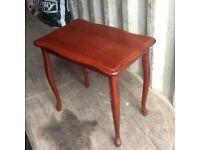 small med dark wood table