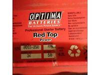Red top optima batteries