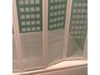 Great condition bath, wash hand basin shower screen.