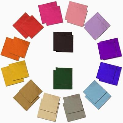 100 2-ply Paper Beverage Luncheon Napkins Solid Colors Disposable- FREE SHIP!