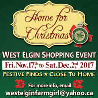 West Elgin Home for Christmas Shopping Event