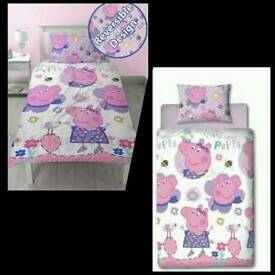 Peppa pig reversible duvet Set