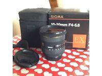 Sigma 10-20 F4-5.6 lens for Nikon AFD