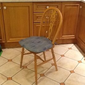 5 oak kitchen dining chairs