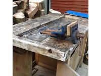 Carpenters wood working bench