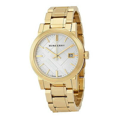 Bu9103 Burberry Womens Swiss Gold Tone Stainless Steel Watch On Sale Authentic