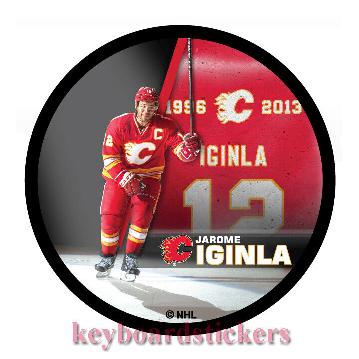 new concept f8e29 6a178 Details about Calgary Flames Jarome Iginla JERSEY RETIREMENT SOUVENIR  Hockey Puck March 2/2019