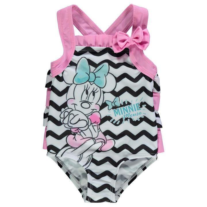 ✅ DISNEY Minnie Mouse Maus Baby Mädchen Badeanzug Bademode Schwimm Pink Kinder