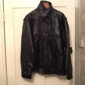 Black leather Italian jacket
