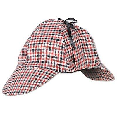 Halloween Red Deer (Deer Stalker Hat Theater Costume Sherlock Holmes Murder Mystery Birthday)