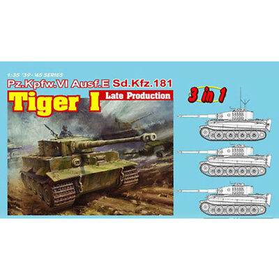 Dragon #6406  1/35 Pz.Kpfw.VI Tiger I Late Production (3 in 1)        for sale  Shipping to United States